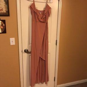 Express tie wrap dress